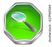 magnifying glass button   3d...   Shutterstock . vector #613960364