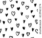 hand drawn doodle seamless...   Shutterstock .eps vector #613961174