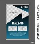 newsletter corporate vector... | Shutterstock .eps vector #613962548