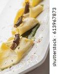delicious italian cuisine ... | Shutterstock . vector #613967873