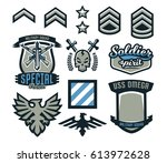 set of military and military... | Shutterstock .eps vector #613972628