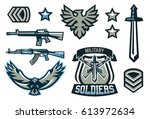 Set Of Military And Military...