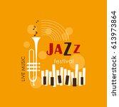 music logo. music festival ...   Shutterstock .eps vector #613973864