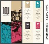 restaurant menu design. vector... | Shutterstock .eps vector #613977998