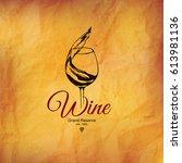 wine list design. vector... | Shutterstock .eps vector #613981136