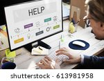 contact us help business... | Shutterstock . vector #613981958