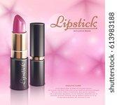 cosmetics design advertising... | Shutterstock .eps vector #613983188