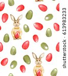 Seamless Easter Pattern With...