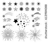 vector hand drawn cartoon stars....   Shutterstock .eps vector #613984088