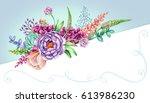 watercolor illustration  pastel ... | Shutterstock . vector #613986230