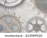 illustration of gear wheel... | Shutterstock . vector #613989020