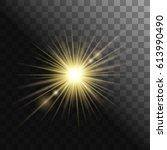 gold glowing light burst... | Shutterstock .eps vector #613990490