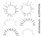collection of handdrawn sun...   Shutterstock .eps vector #613994246