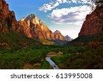 zion national park | Shutterstock . vector #613995008