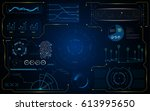 hud gui interface futuristic... | Shutterstock .eps vector #613995650