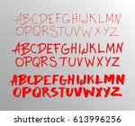 graphic font for your design.... | Shutterstock .eps vector #613996256