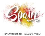 hand written spain. vector... | Shutterstock .eps vector #613997480