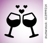 happy valentine's day. two...   Shutterstock .eps vector #613999214