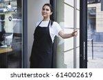 half length portrait of... | Shutterstock . vector #614002619