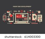 front and development background | Shutterstock . vector #614003300