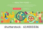 cooking collection  healthy... | Shutterstock .eps vector #614003336