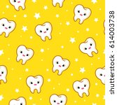 vector seamless pattern with... | Shutterstock .eps vector #614003738