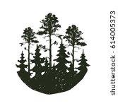 tree outdoor travel black... | Shutterstock .eps vector #614005373