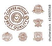 Coffee Badge Food Thin Line...