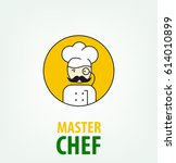 logo chef. character male emblem | Shutterstock .eps vector #614010899