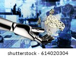 industrial internet of things   ... | Shutterstock . vector #614020304