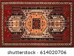 persian carpet  tribal vector... | Shutterstock .eps vector #614020706