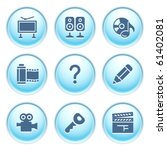 icons on blue buttons 28   Shutterstock .eps vector #61402081