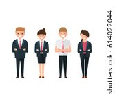 young business people  man and... | Shutterstock .eps vector #614022044