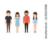 set of style young people. in...   Shutterstock .eps vector #614024588