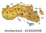 flat 3d isometric africa flora... | Shutterstock .eps vector #614026448