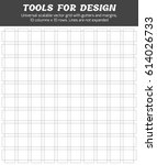 vector modular grid 10x10 with... | Shutterstock .eps vector #614026733
