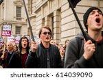 london  uk. 1st april 2017.... | Shutterstock . vector #614039090