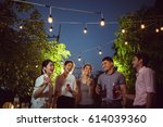 asian dinner celebrate party | Shutterstock . vector #614039360