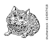 hamster  drawing graph on white ...   Shutterstock .eps vector #614047418