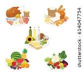 Vector Of Five Groups Of Food
