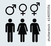 gender symbol set gray   Shutterstock .eps vector #614055356