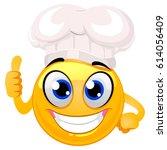 vector illustration of smiley... | Shutterstock .eps vector #614056409
