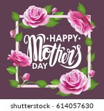 happy mother's day poster with... | Shutterstock .eps vector #614057630