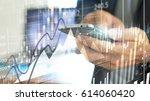 businessman using smartphone...   Shutterstock . vector #614060420