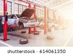 car repair station with soft... | Shutterstock . vector #614061350