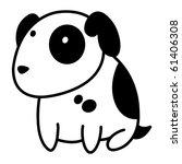 Stock vector little cute spotty puppy 61406308