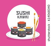 delicious sushi design | Shutterstock .eps vector #614068340