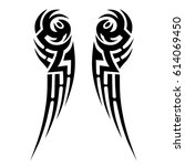 tribal tattoo designs element.... | Shutterstock .eps vector #614069450