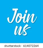 join us  text design. vector... | Shutterstock .eps vector #614072264