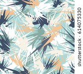 delicate seamless pattern with... | Shutterstock .eps vector #614075330